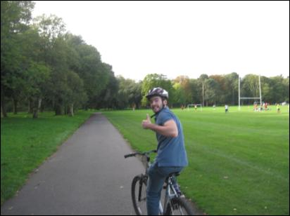 Biking from Cardiff Castle to Castle Coch