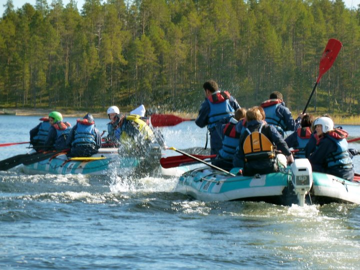 White water rafting in the Ruka rapids