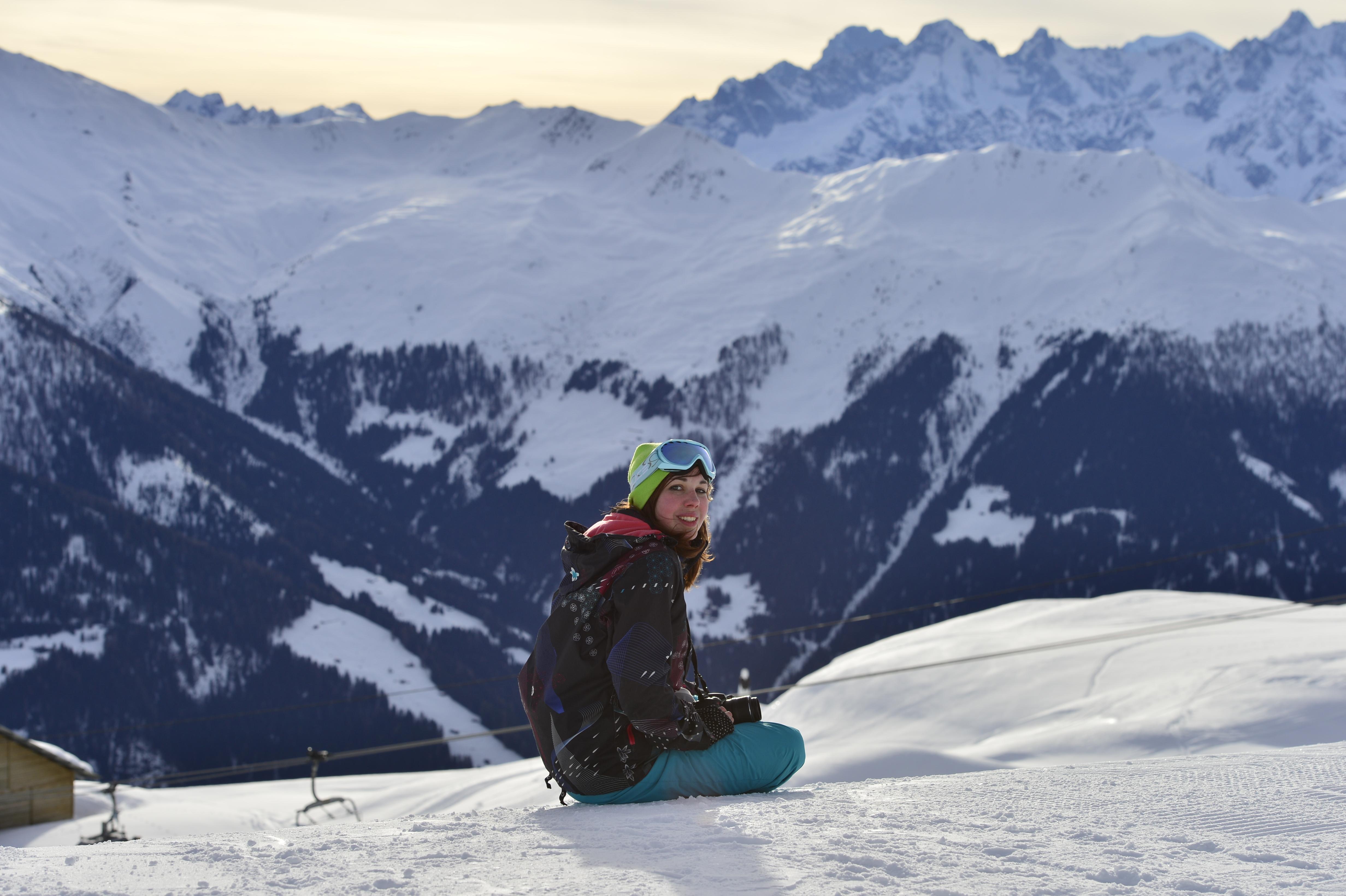Photoblog: the ski photoshoot - the girl outdoors
