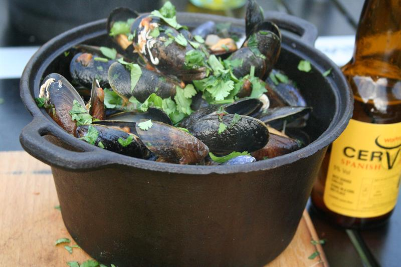 Recipe: The Guyrope Gourmet's mussels with beer and coriander