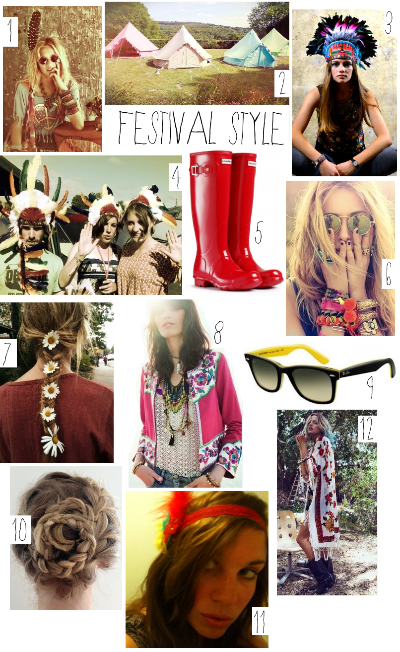 Festival style, hair and beauty inspiration