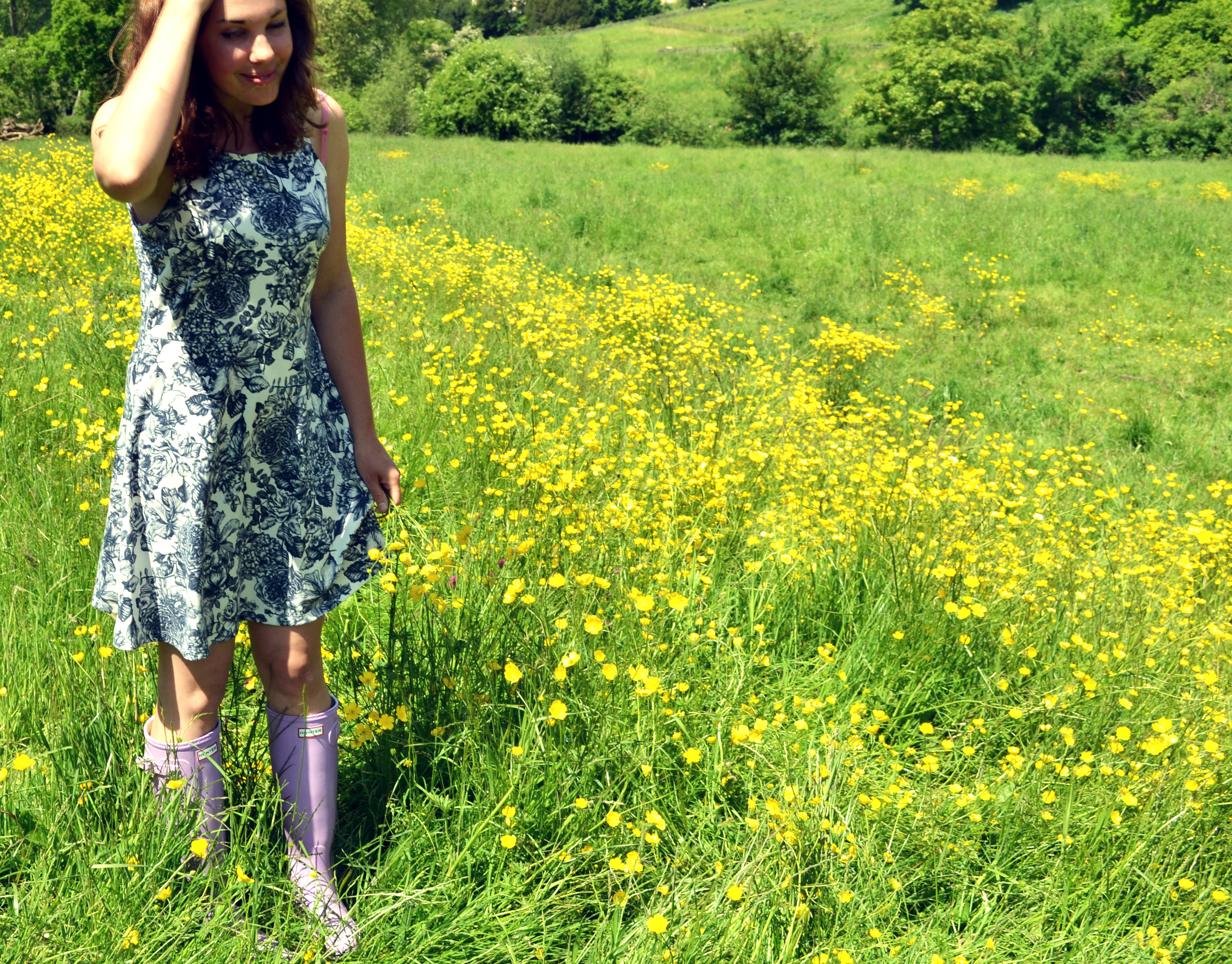 Hunter wisteria wellingtons go wild swimming