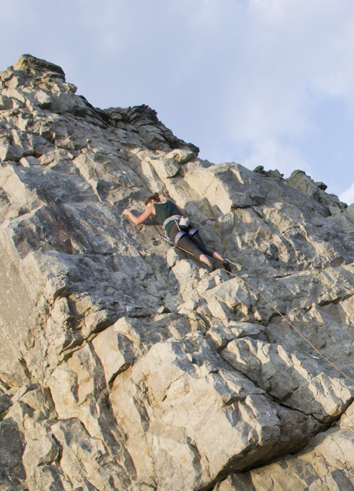 Beginner sport climbing in Dorset The Girl Outdoors