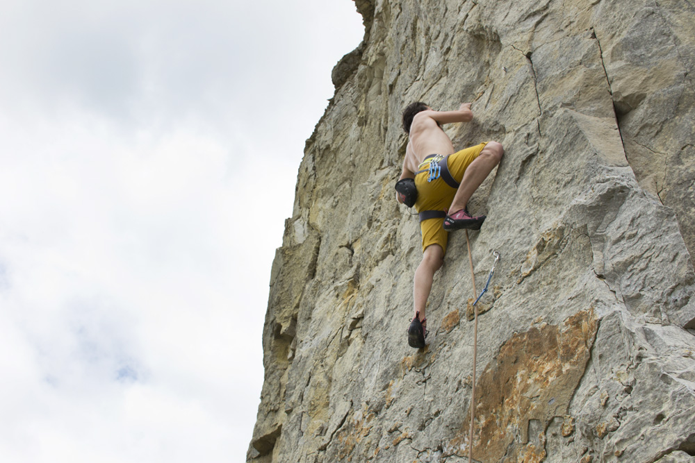 Beginner sport Climbing in Dorset