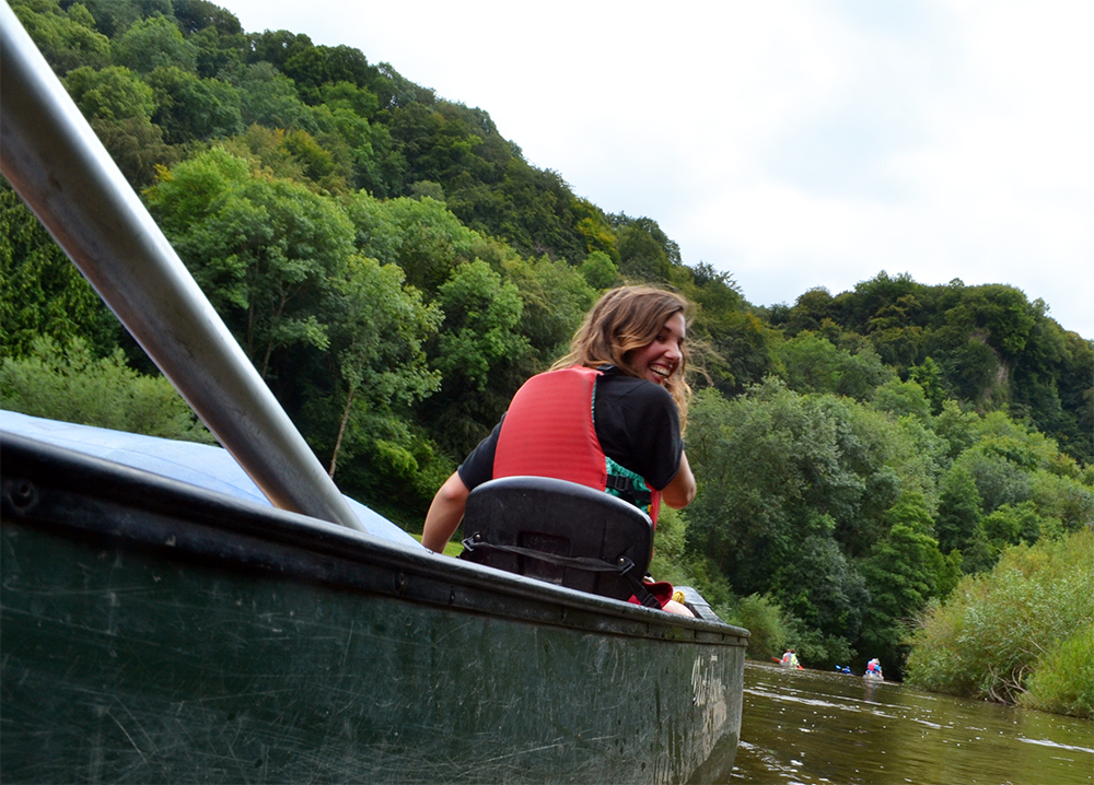 Canoeing the River Wye