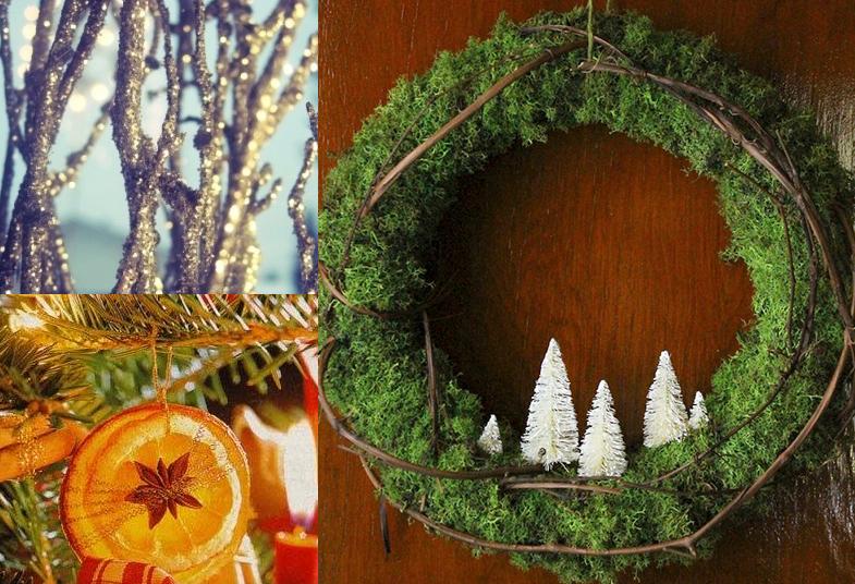 cheap natural christmas crafts