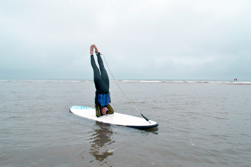 SUP yoga headstand - Happy International Day of Yoga