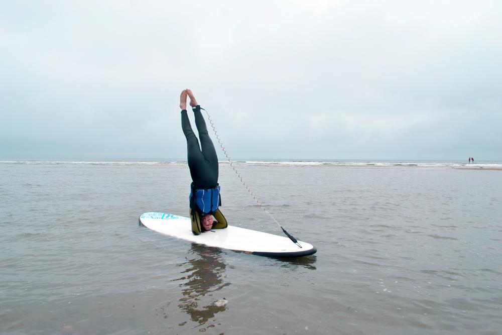 SUP yoga headstand - Happy International Day of Yoga