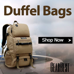 High quality and inexpensive duffel bags on Gearbest.com, free shipping all over the world