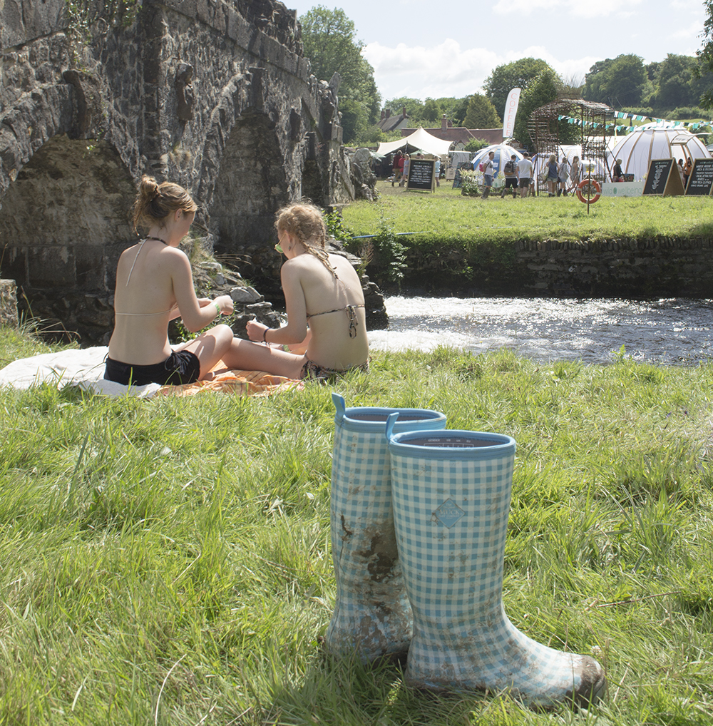 Muck Boot wellingtons at Somersault Festival