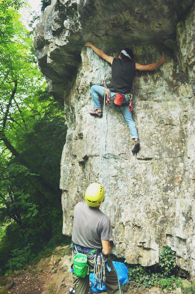 Climbing in the Wye Valley