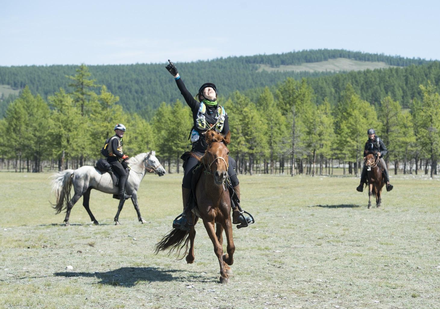 Interview riding the Adventurist Mongol Derby