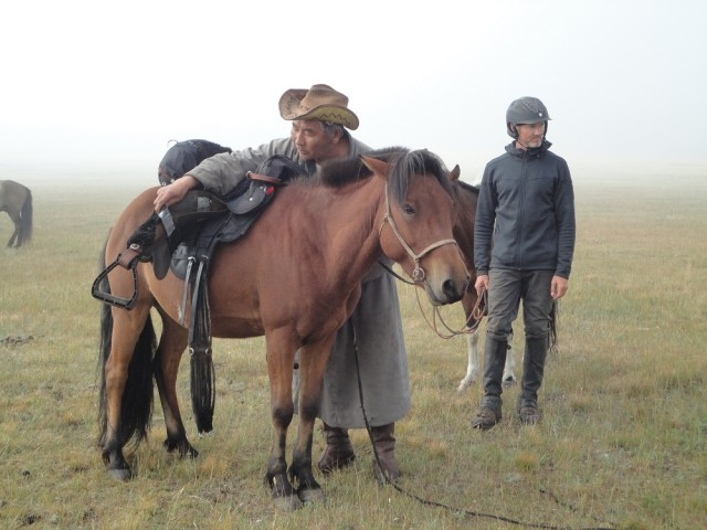 Interview riding the Adventurist Mongol Derby