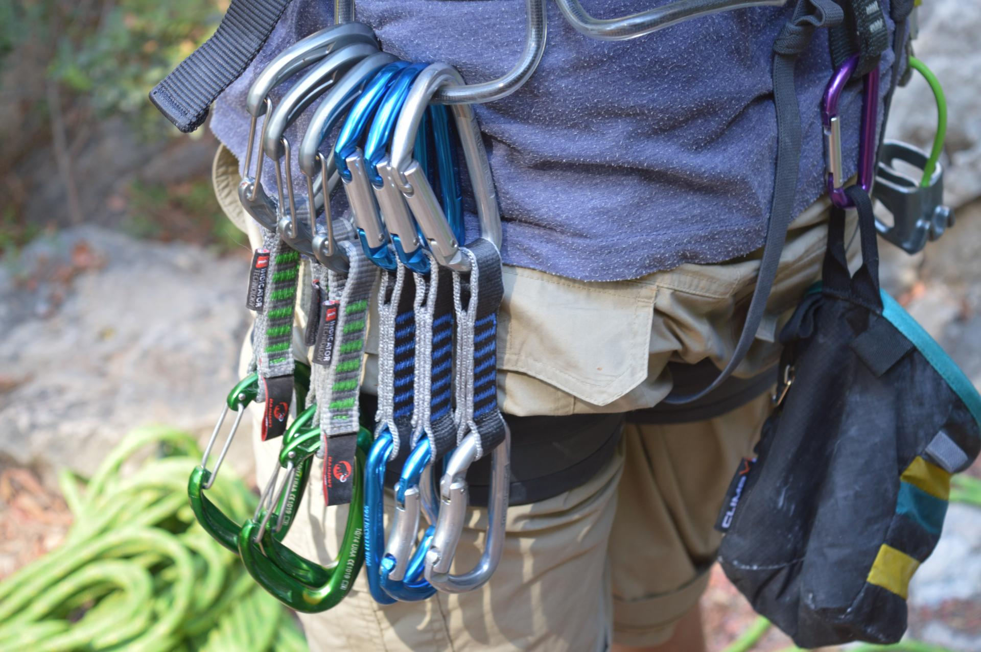 beginner's rope climbing kit Climbing packing guide The Girl Outdoors