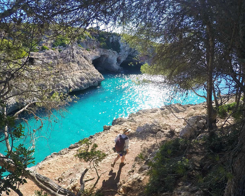 deep water solo climbing Mallorca