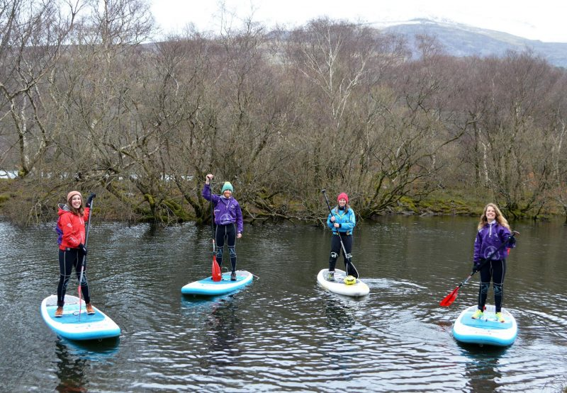Stand-up paddleboarding in Snowdonia