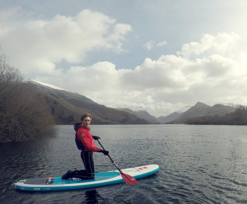 Stand-up paddleboarding Snowdonia