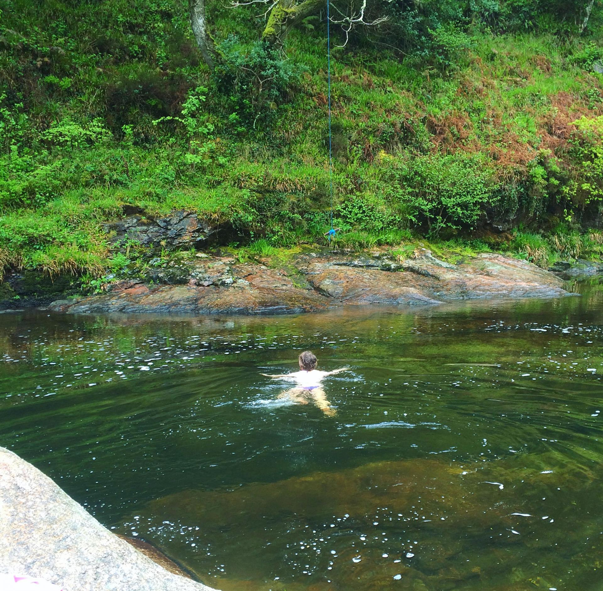 Wild swimming at Sharrah Pools, Dartmoor