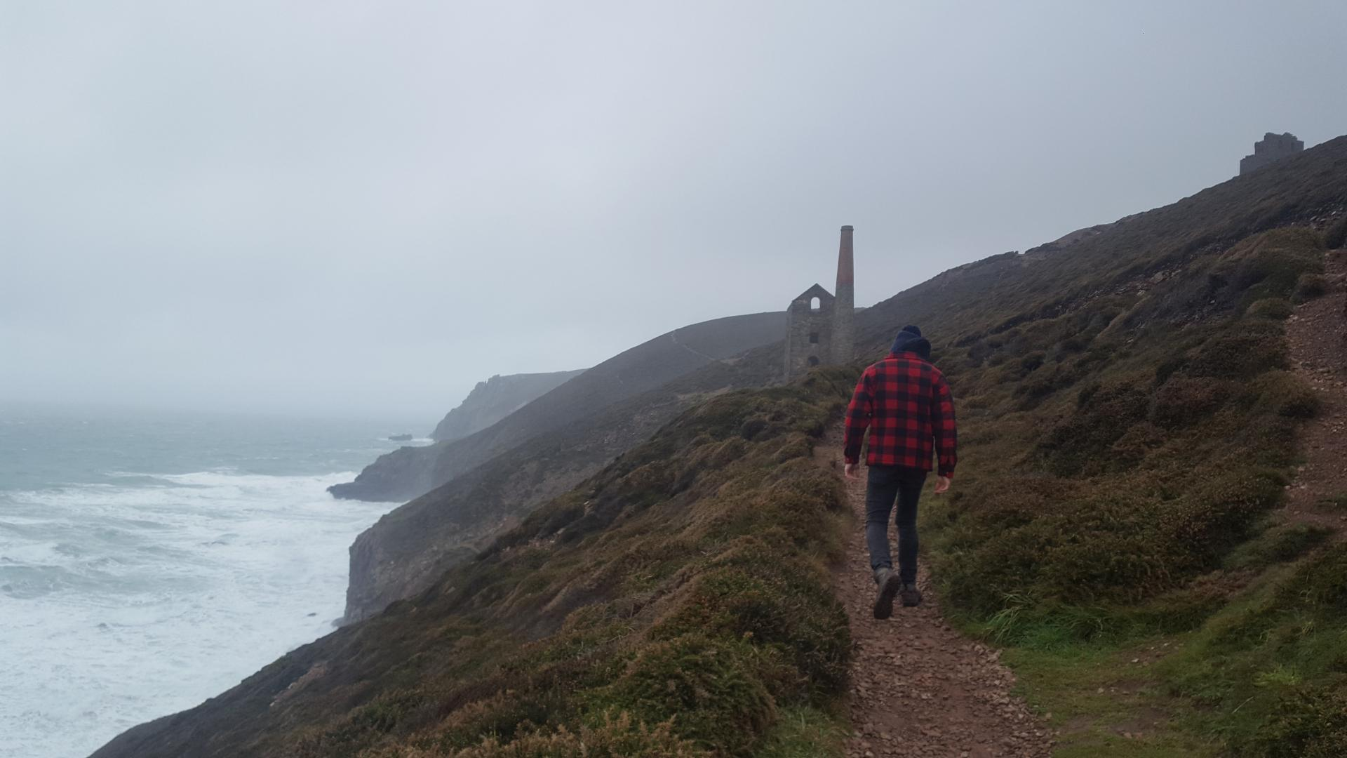 Walk Chapel Porth to St Agnes Cornwall