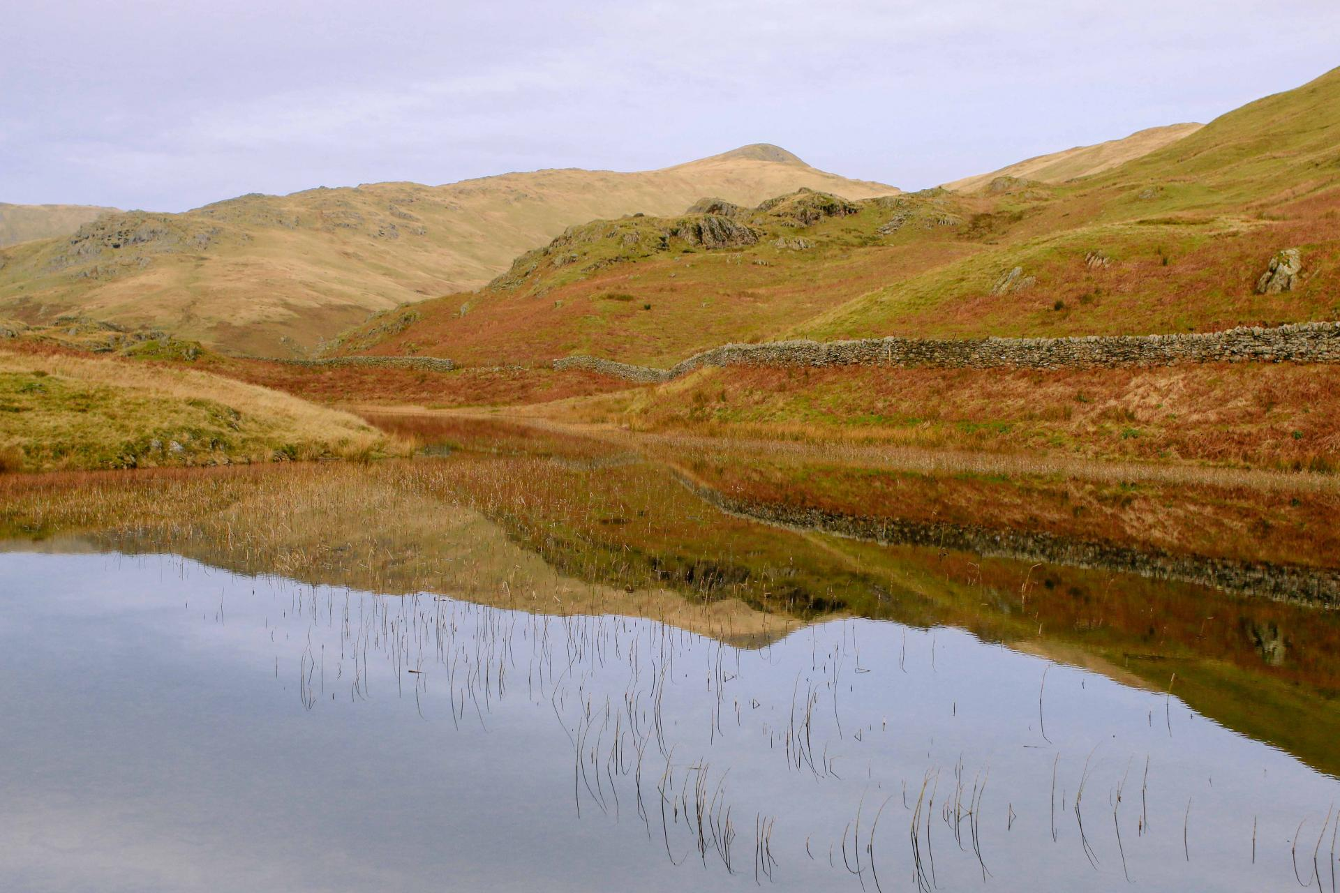 Walk Alcock Tarn and Nab Scar in the Lake District Cumbria map route