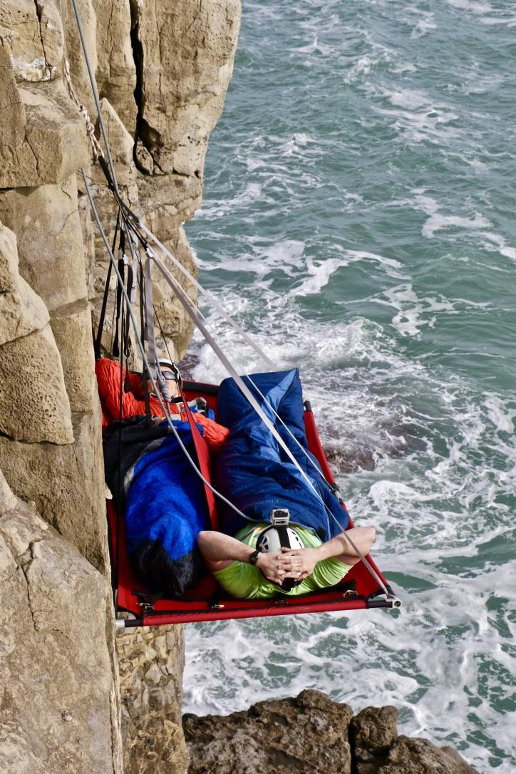 How it feels to go cliff camping