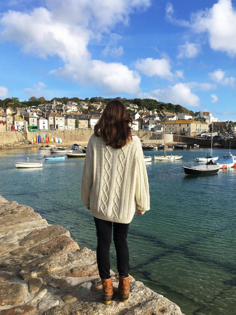 Exploring the South West Coast Path in Mousehole, Cornwall