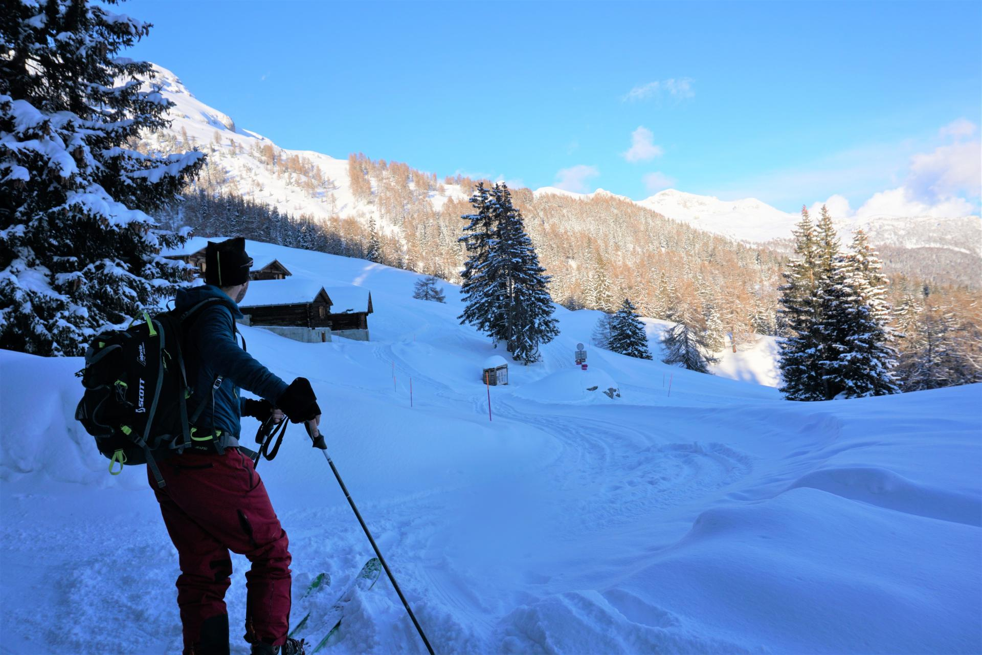 ski touring in Crans Montana