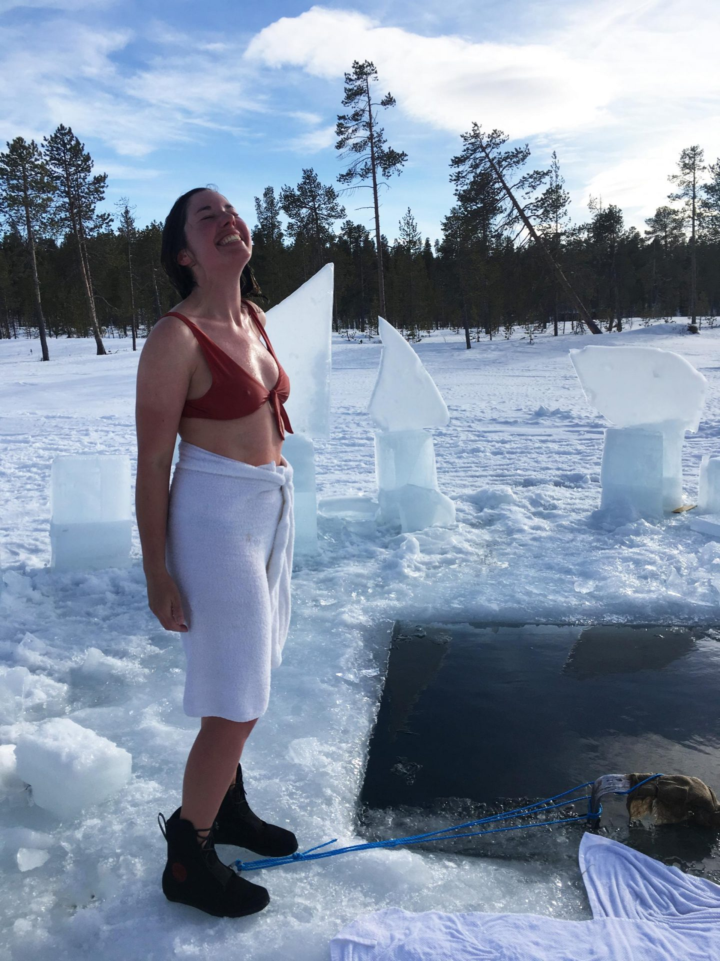 Ice Swimming | How It Feels To Try Winter Swimming In Sweden