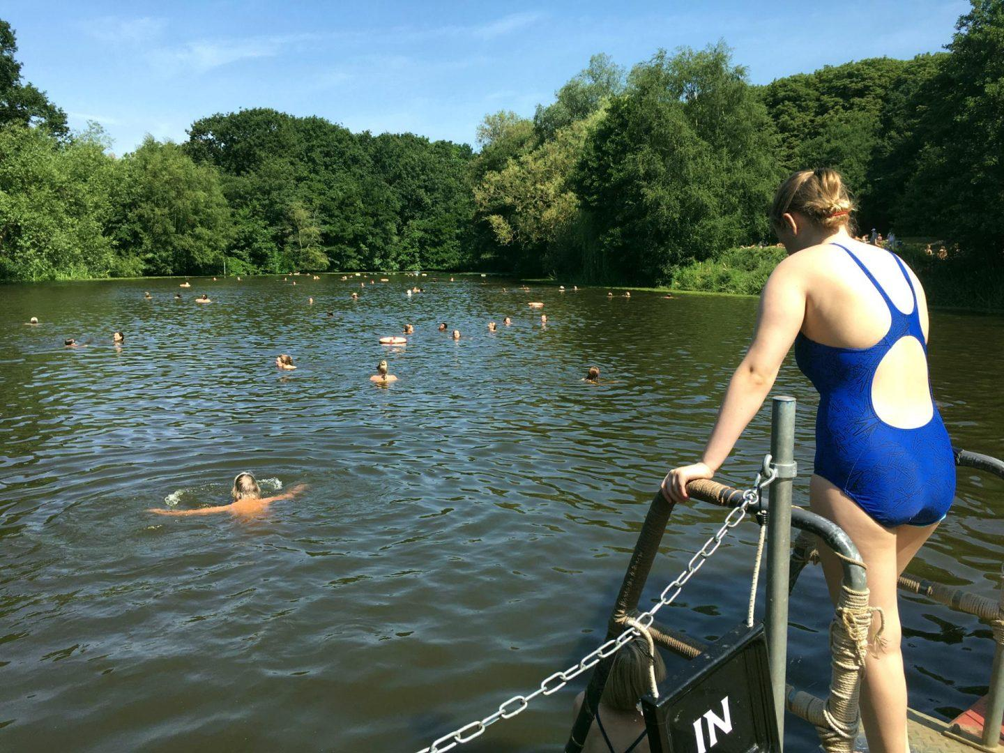 Wild swimming near London - Hampstead Heath The Girl Outdoors