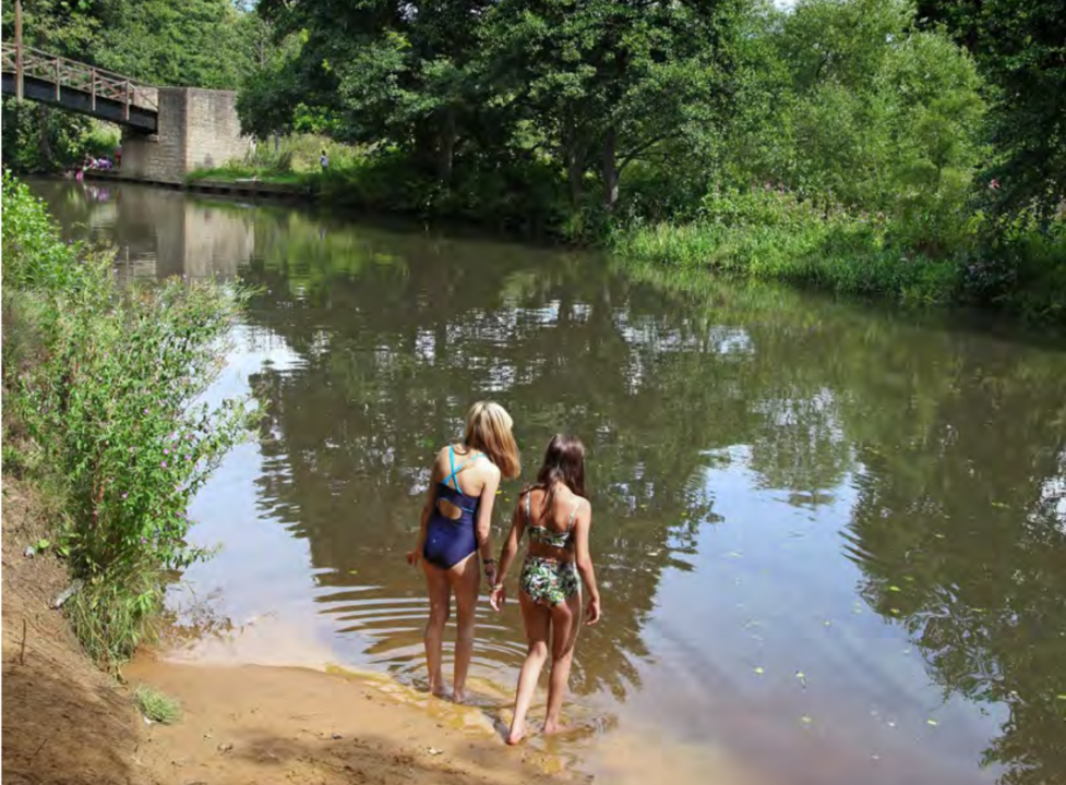 Wild swimming near London - Chilworth The Girl Outdoors