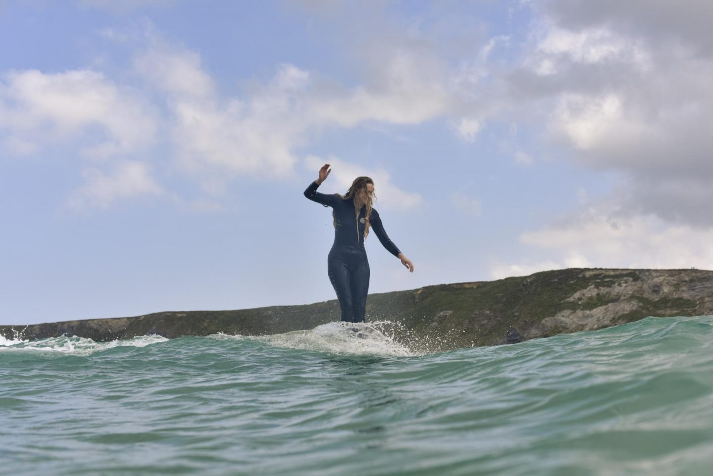 Surf Sistas longboard clinic in Cornwall